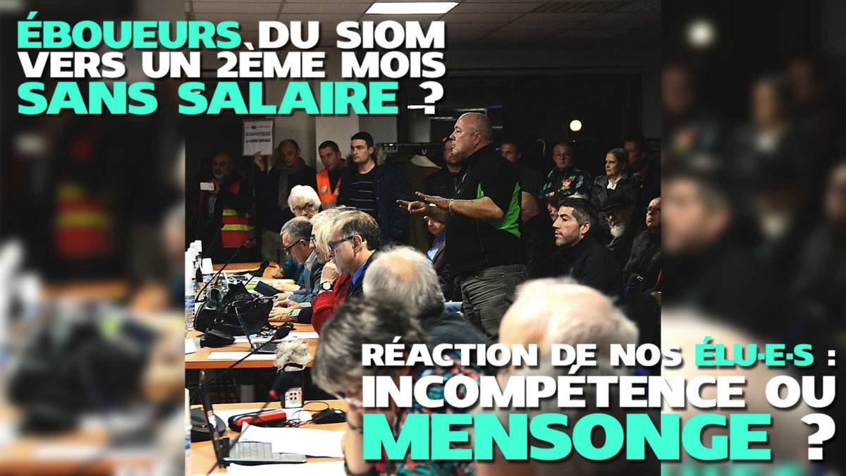 Éboueurs du SIOM : Vers un 2ème mois sans salaire