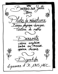 Le menu à Bourges-sur-Yvette