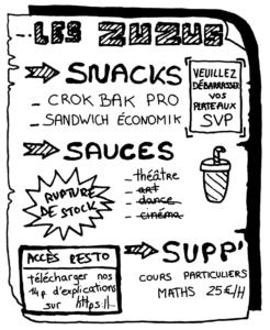 Le menu aux Zuzus