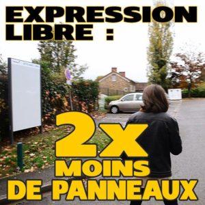 Palaiseau: deux fois moins de panneaux d'expression libre