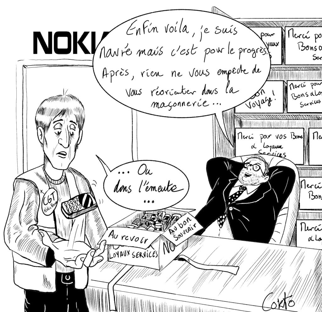 Nozay: À Nokia, les salarié⋅e⋅s contraint⋅e⋅s de « creuser leur propre tombe »